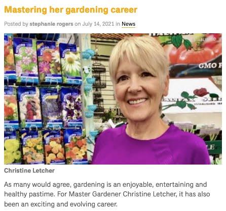 Christine Letcher Master Gardener Dalhousie News Article